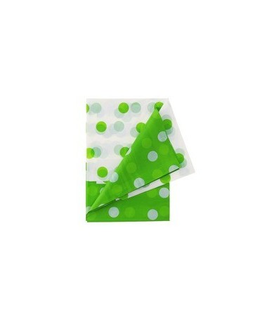 Obrus -zelené bodky 128x181cm