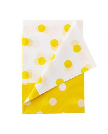 Obrus -žlté bodky 128x181cm 1ks