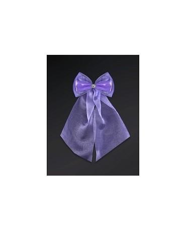 Ozdoba - mašľa  - fialová 2ks