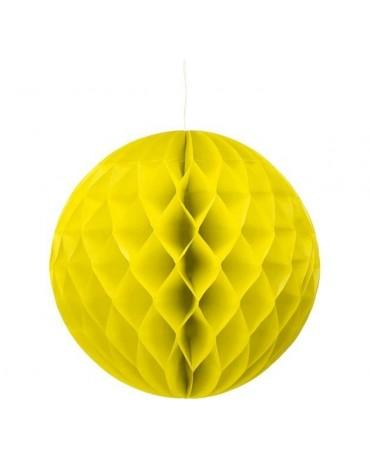 Dekor. guľa- žltá 30cm