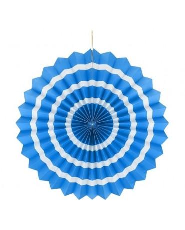 Dekor. rozeta -modrá s biel. pás.  40cm 1ks